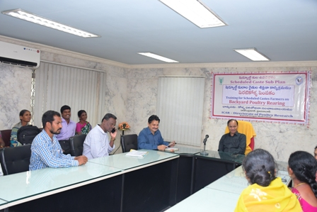 Training to SC farmers of Warangal District